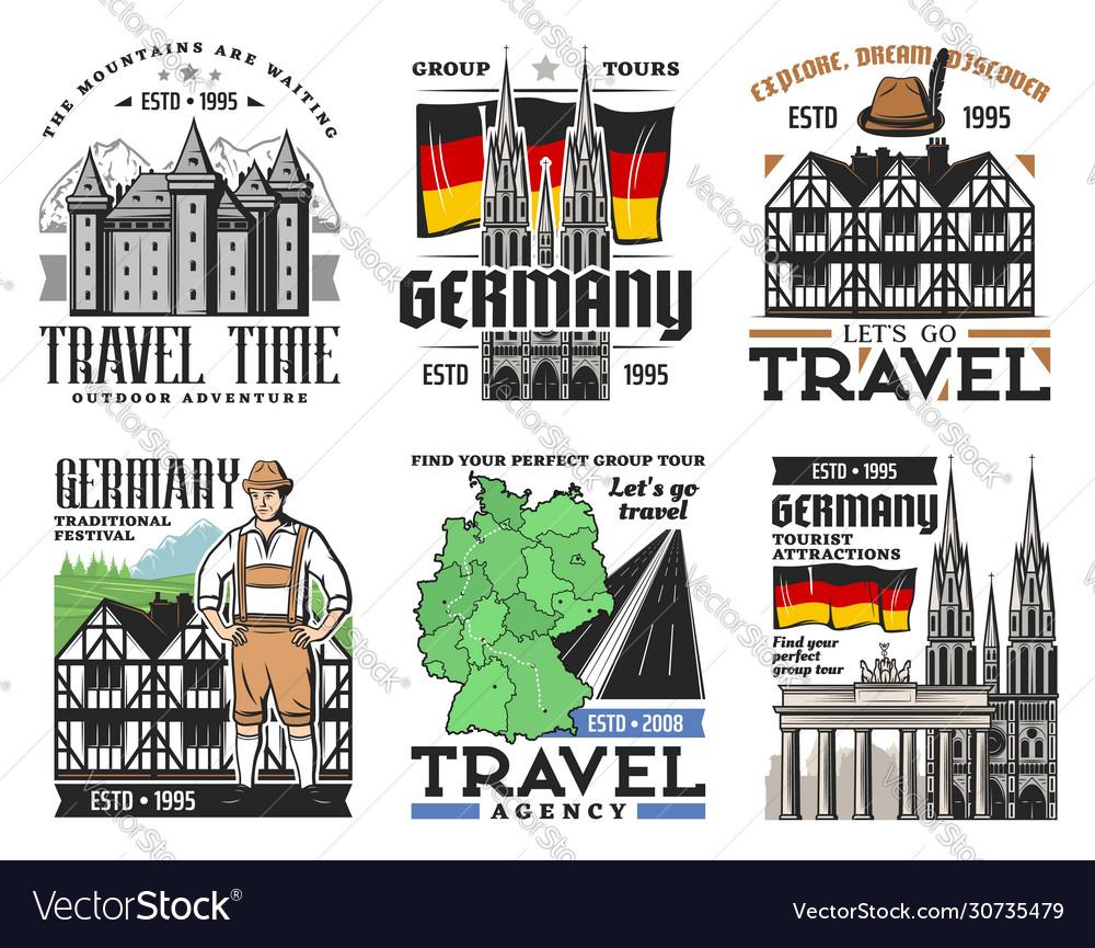 German architecture travel landmark icons