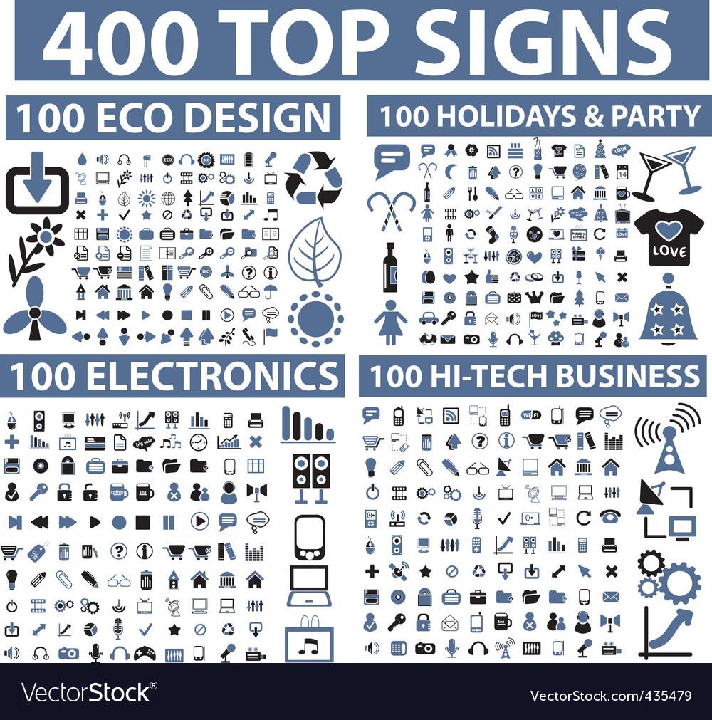 Hundreds icons