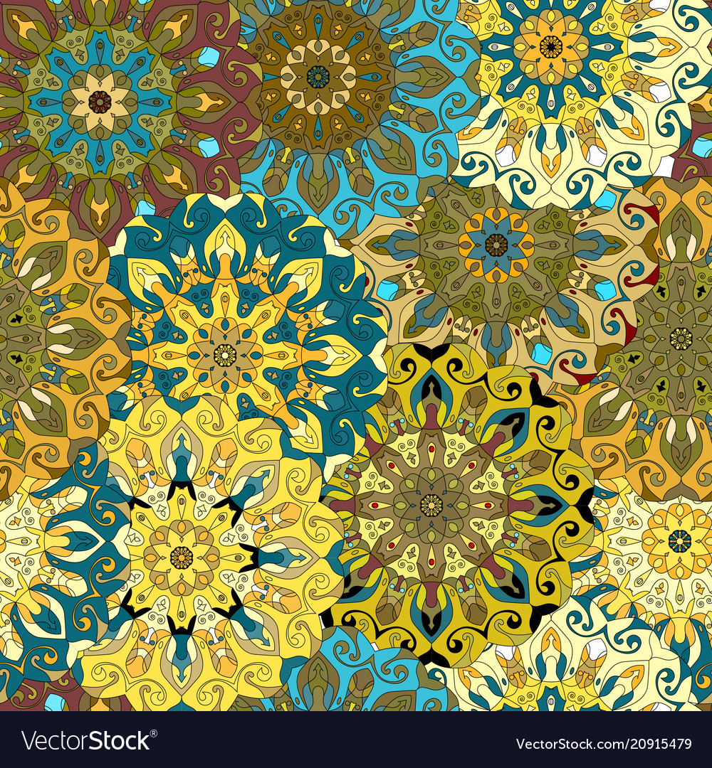 Seamless pattern vintage decorative elements