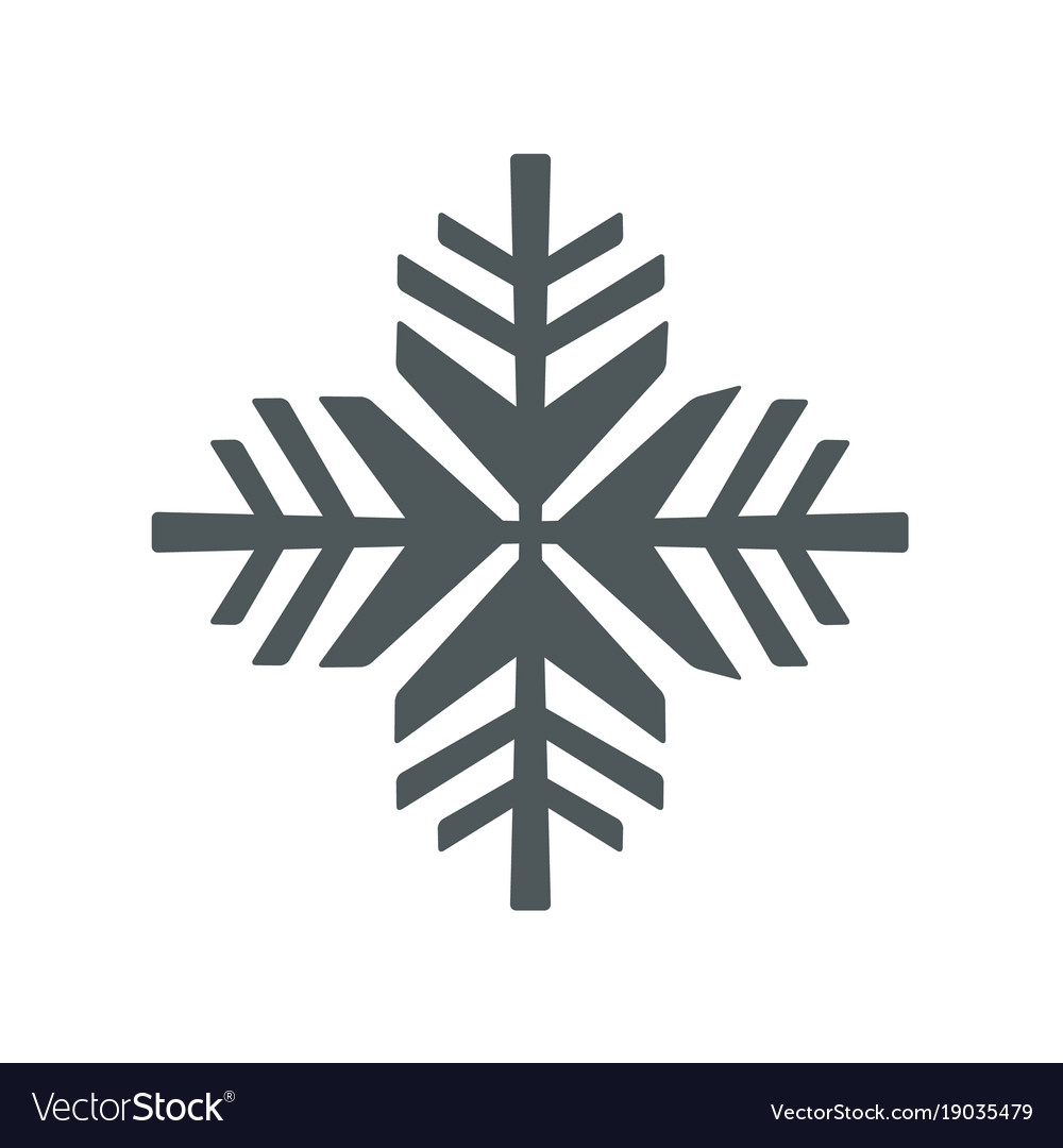 Snowflake icon snowflake sign isolated