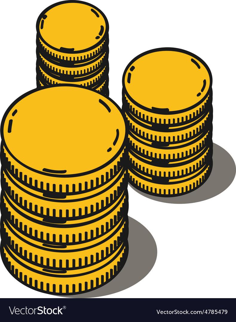 Stacks golden coins