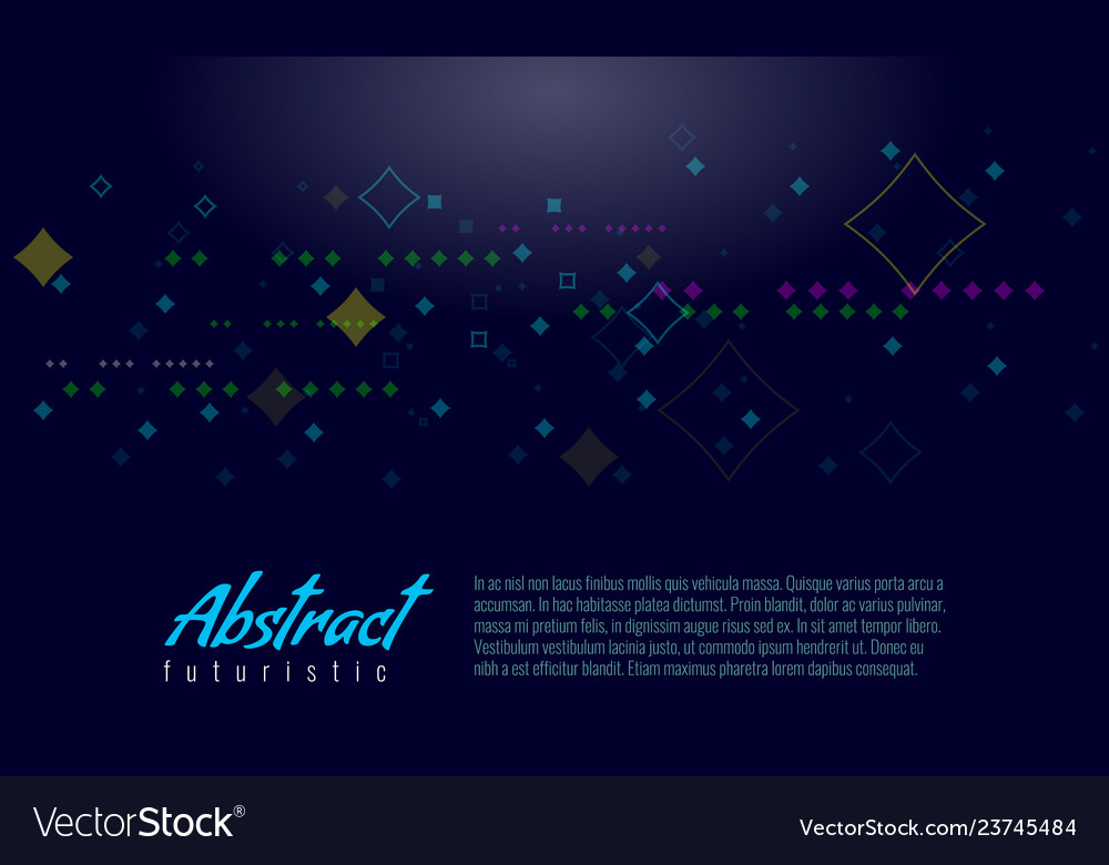 Abstract digital dot and rectangle elements on