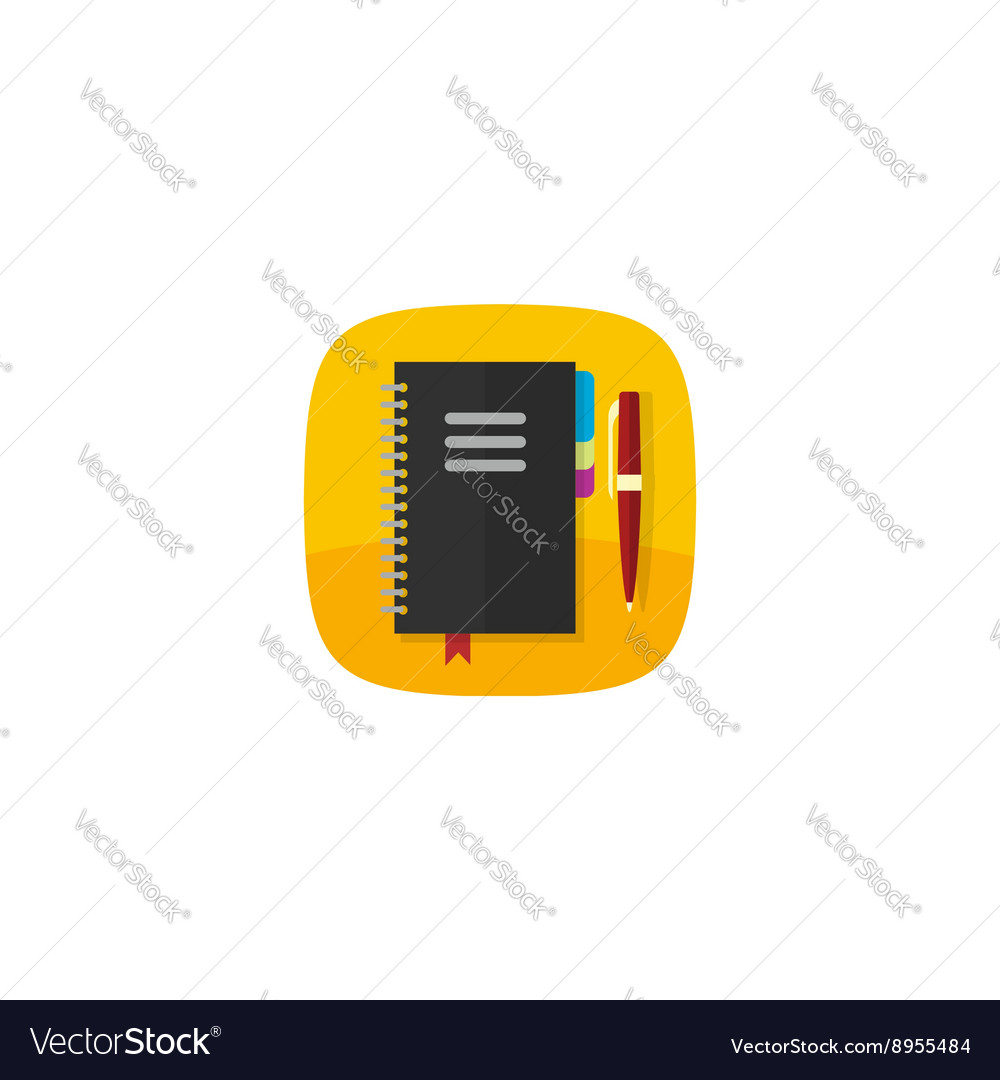 Notebook icon isolated on white organazier