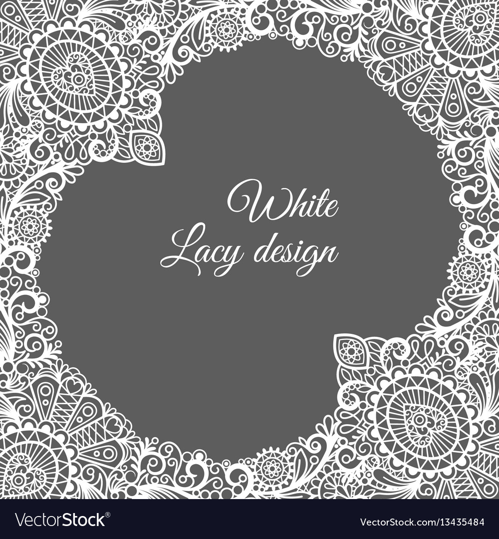 White lacy ornamental card design