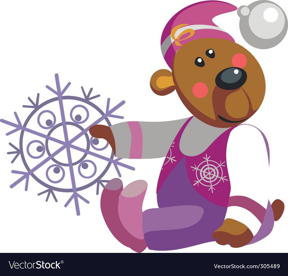 Bear snowflake