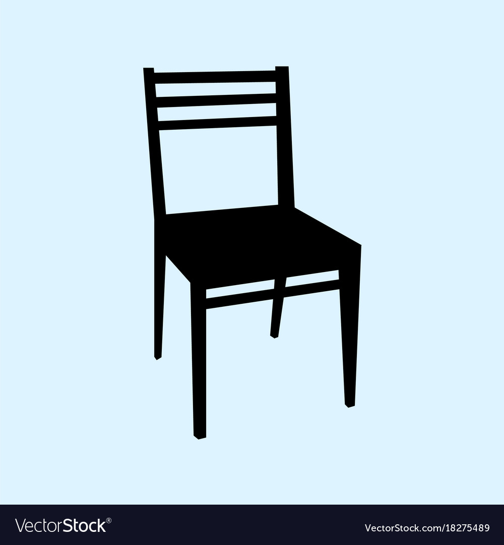 Chair isolated on ligth blue