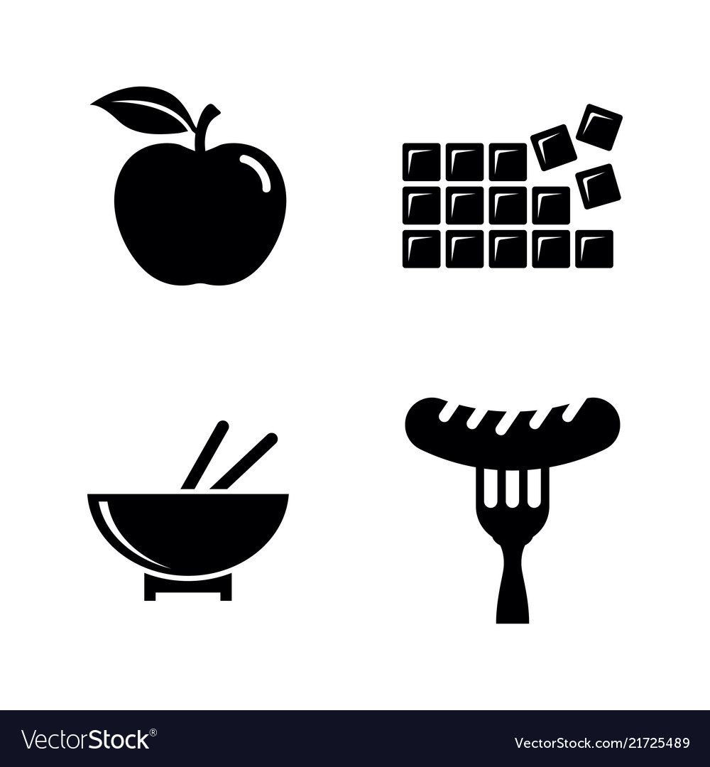 Food and sweets simple related icons