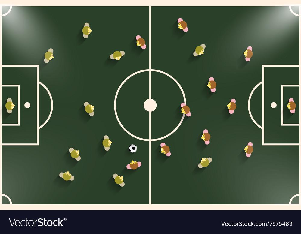 Football - Soccer Field Night or Evening Match Top