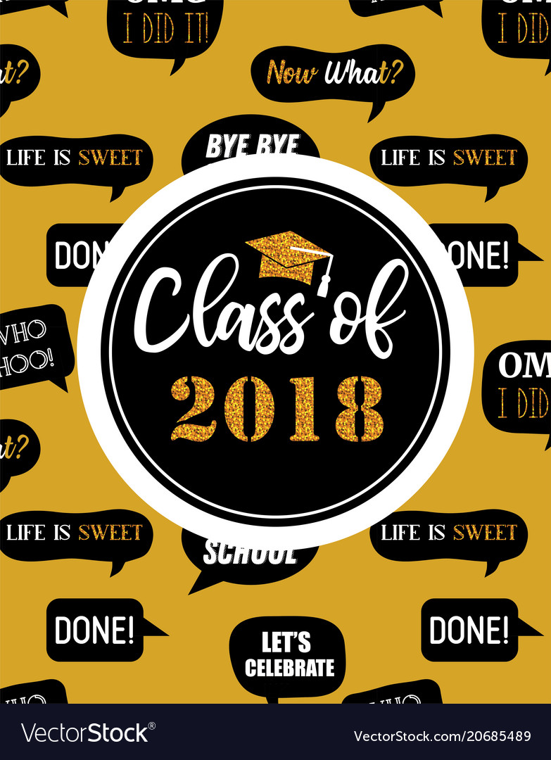 Graduation class of 2018 party invitation poster