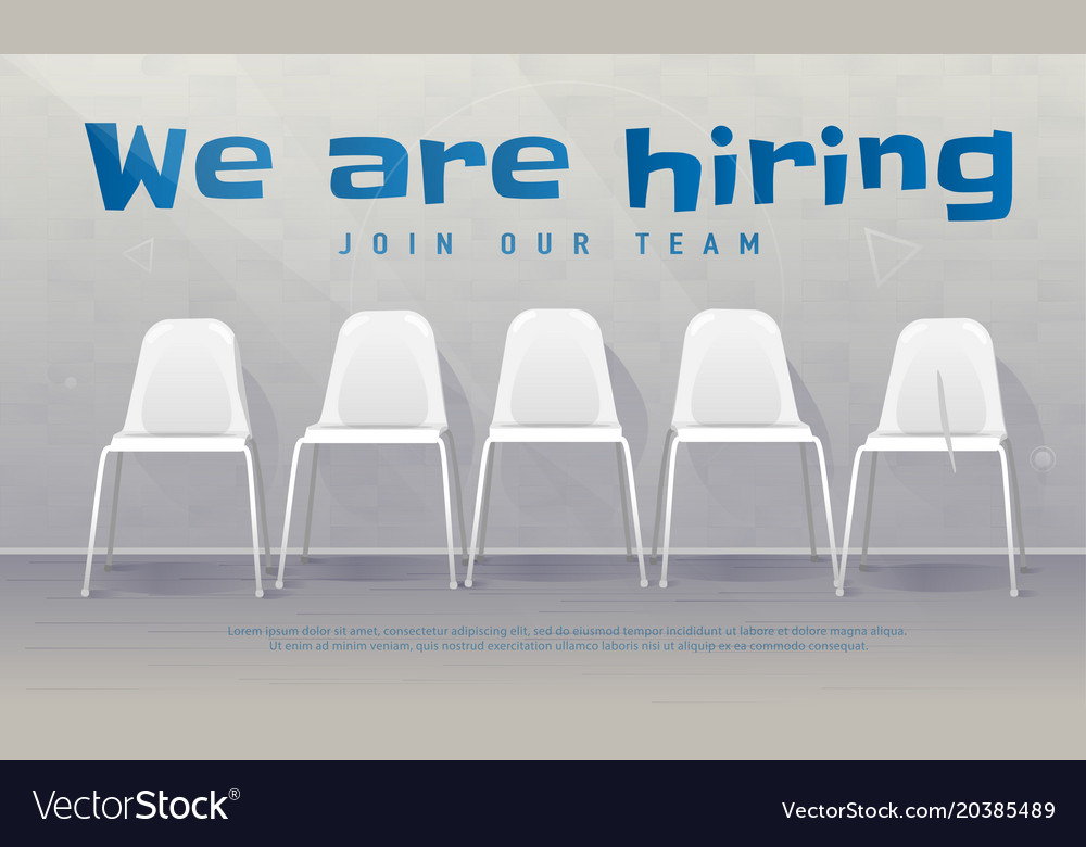 Job recruiting banner copy space we are hiring vector image