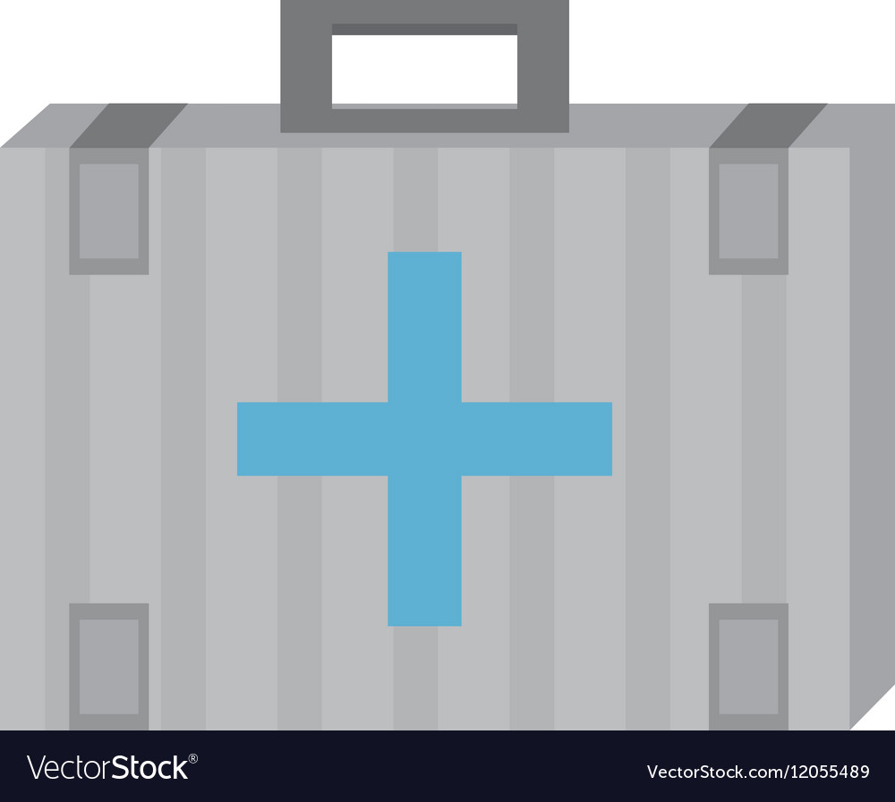Kit first aid cross emergency medical vector image