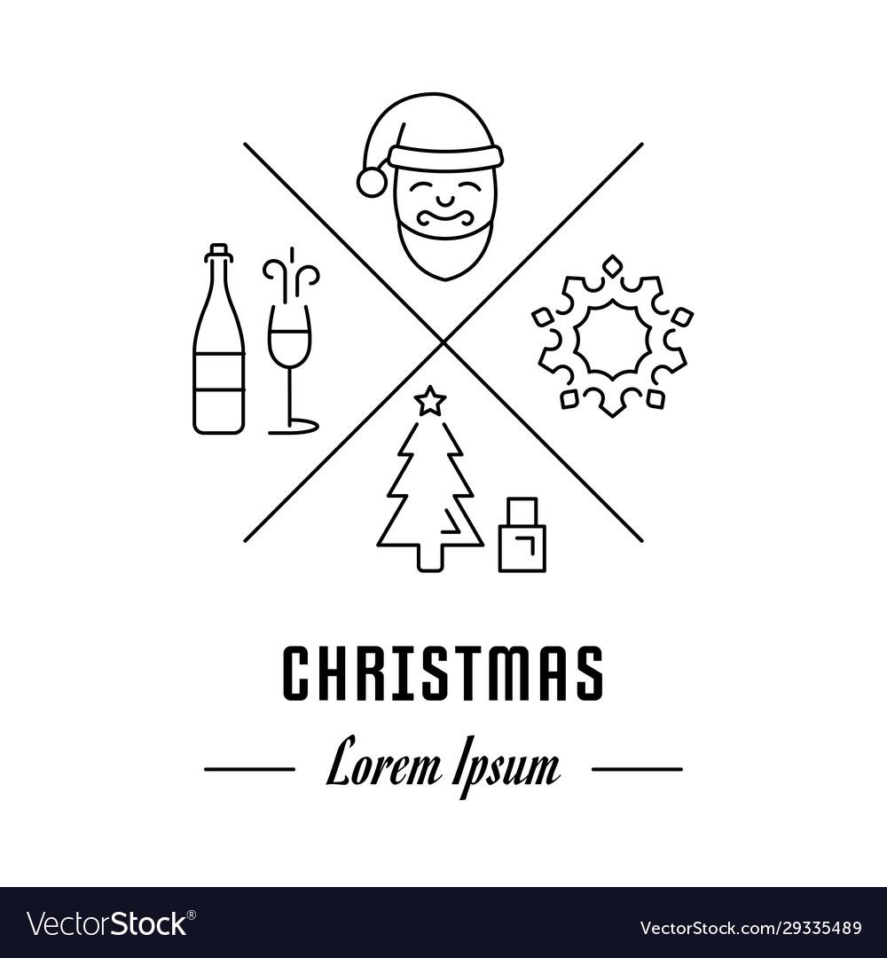 Line banner christmas