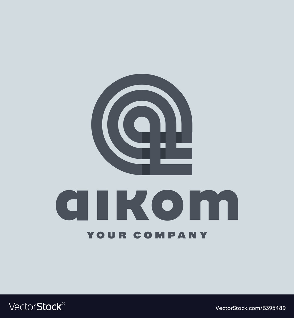 Logo letter A flat style of vector image