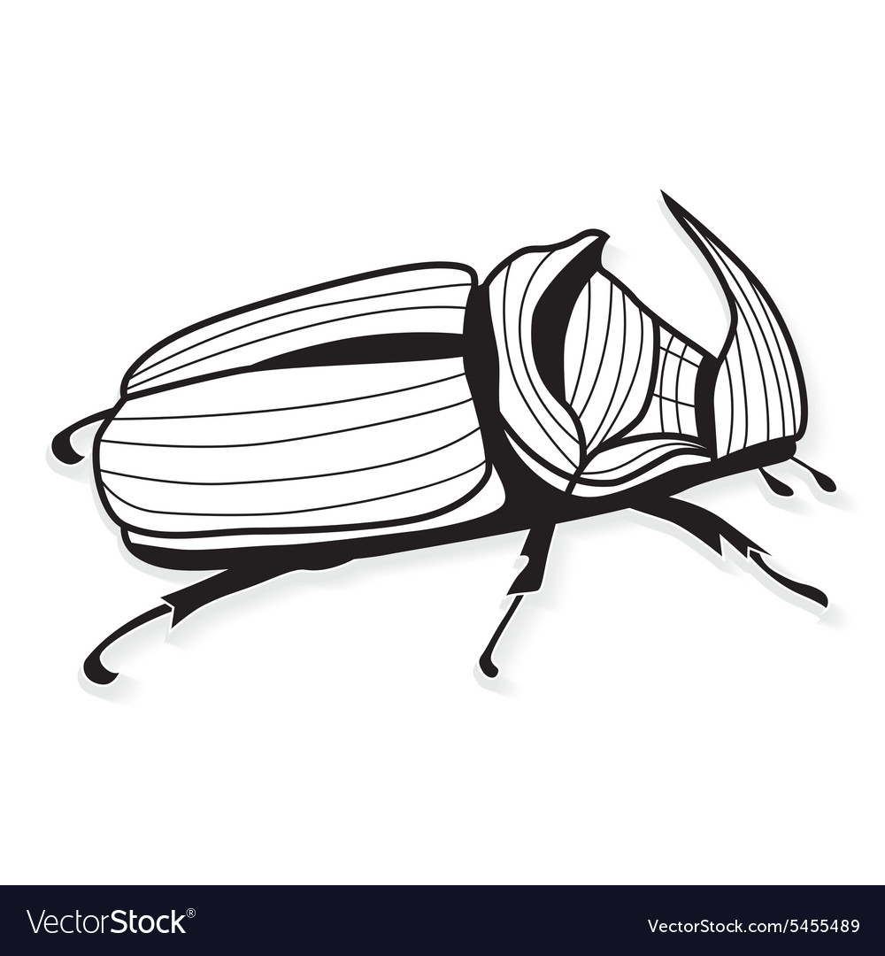 Rhinoceros beetle tattoo or for T-shirts