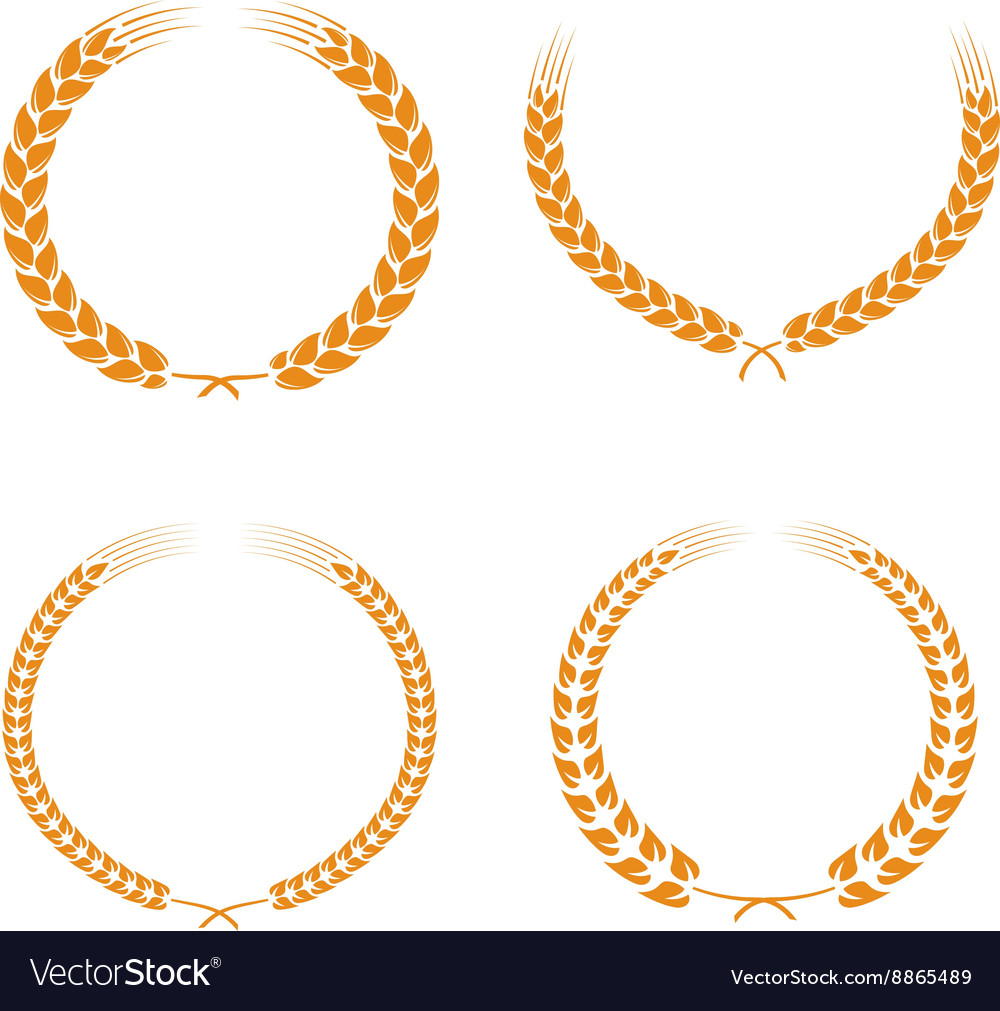 Wheat ears set