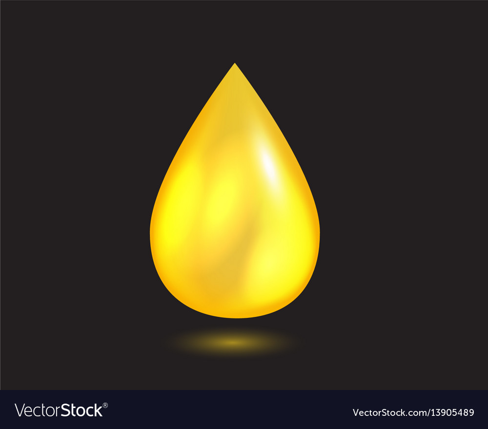 Yellow liquid oil falling drop