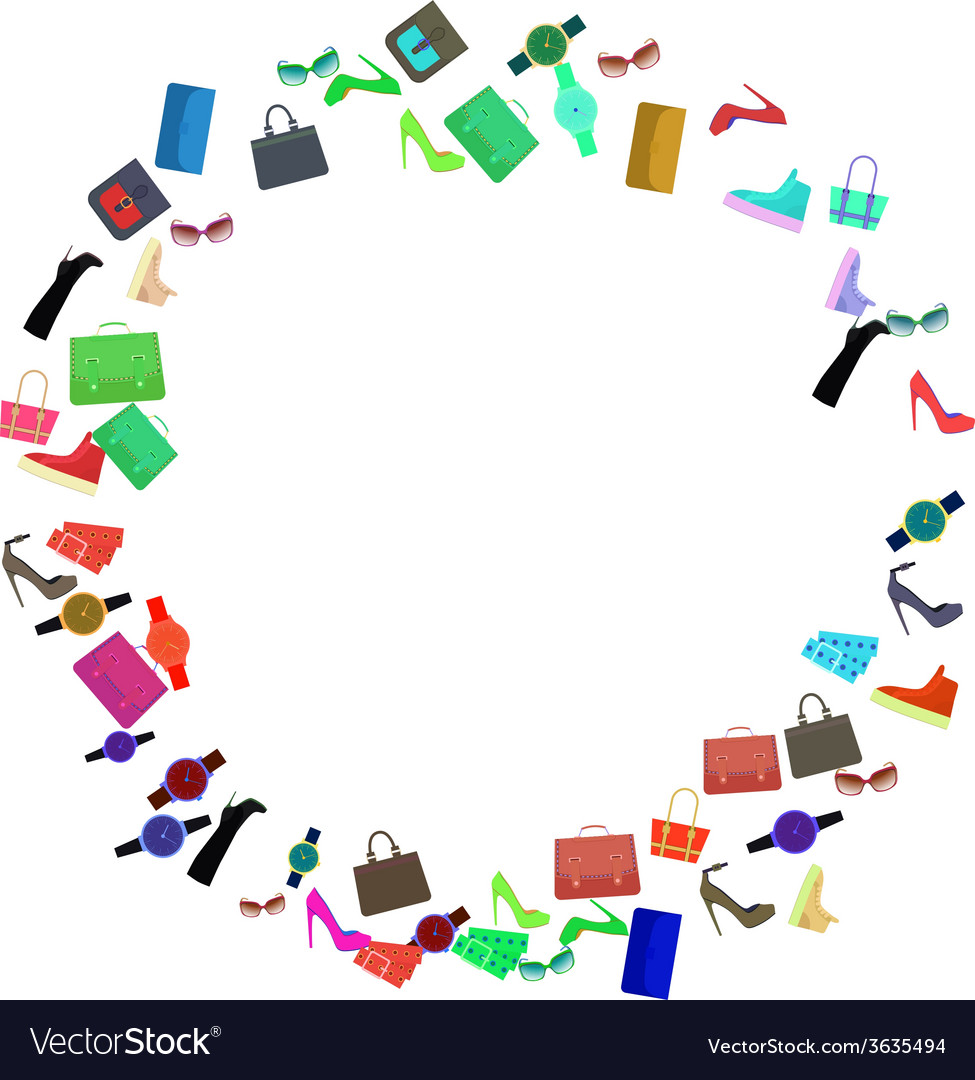 Abstract Flat Clothes Background