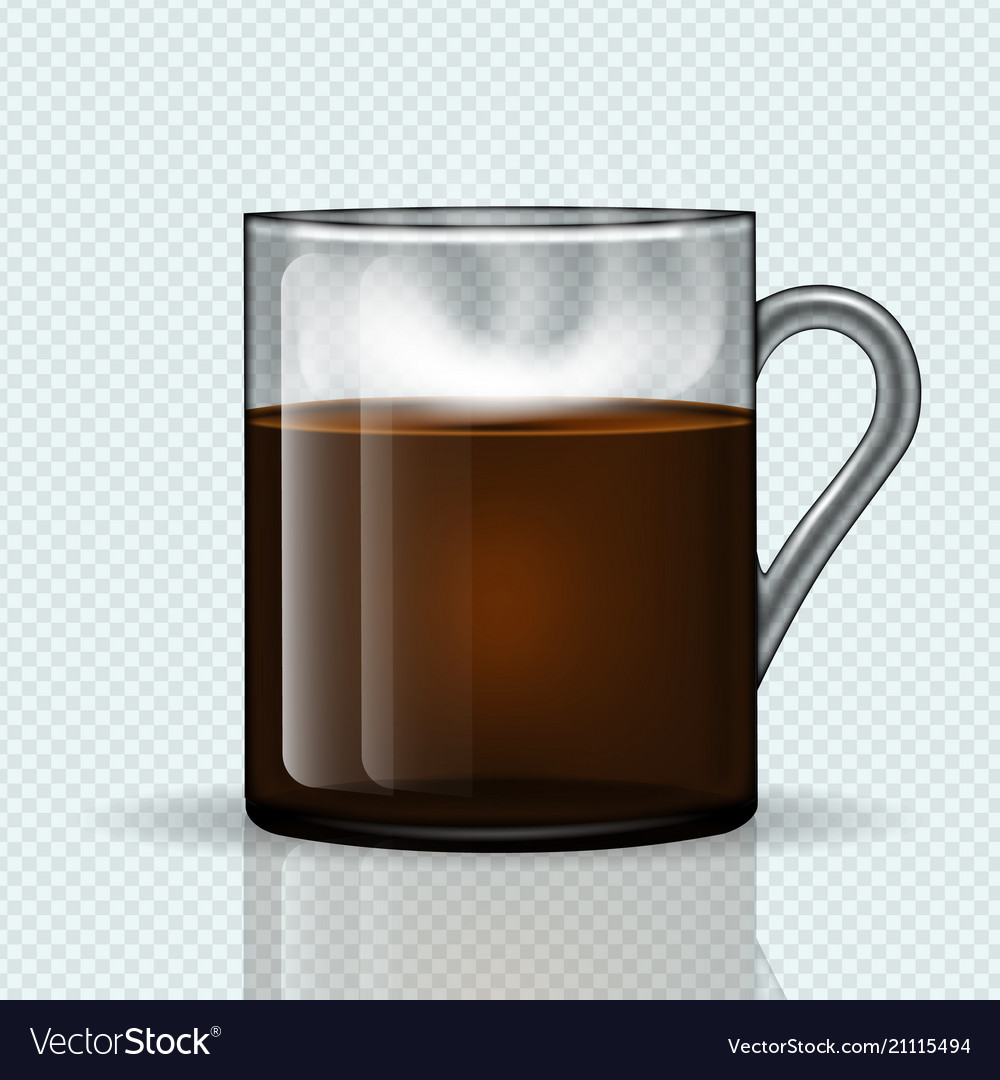 bdf121fe8c2 Cup of hot coffee on a transparent background Vector Image