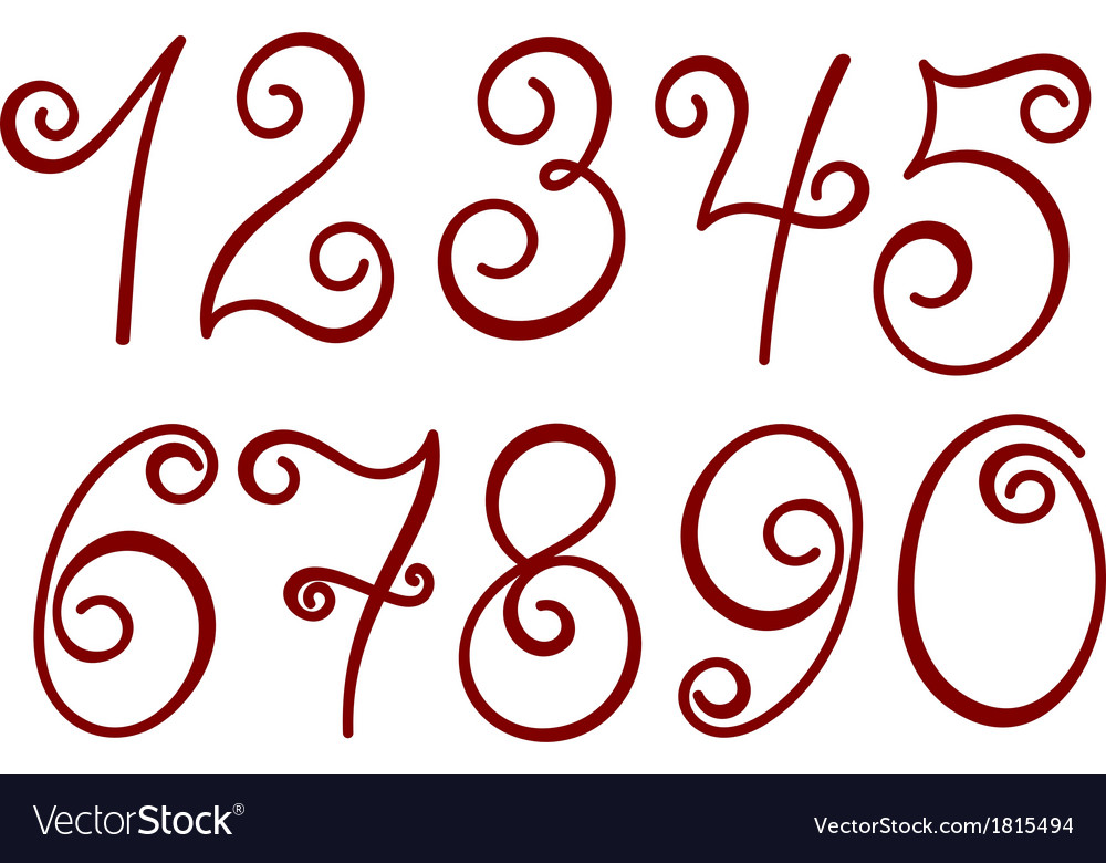 Curly numbers