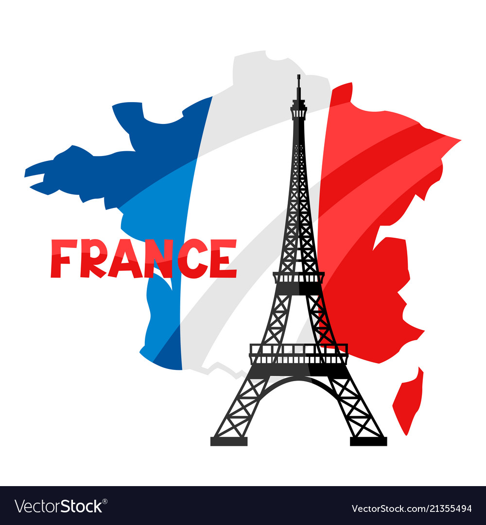 Map Of France Eiffel Tower.Eiffel Tower On Map Of France