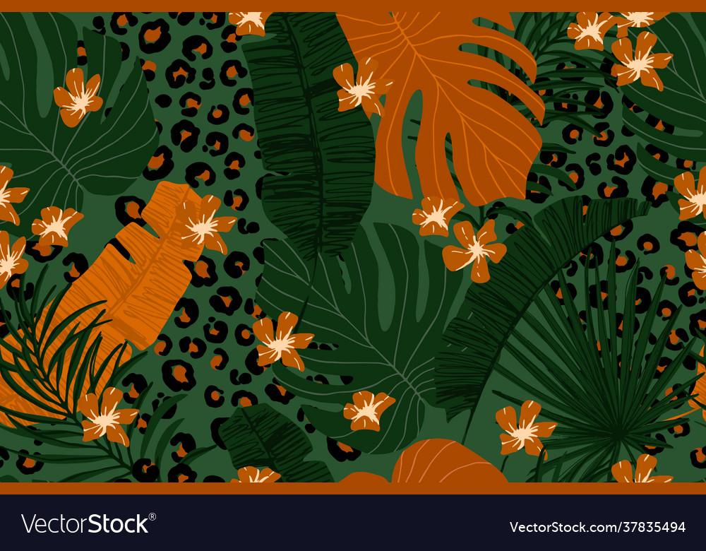 Modern exotic seamless pattern leopard fur