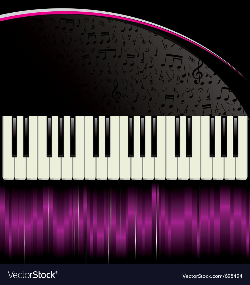 Piano purple background