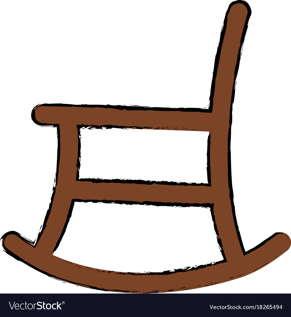 Rocking chair isolated icon