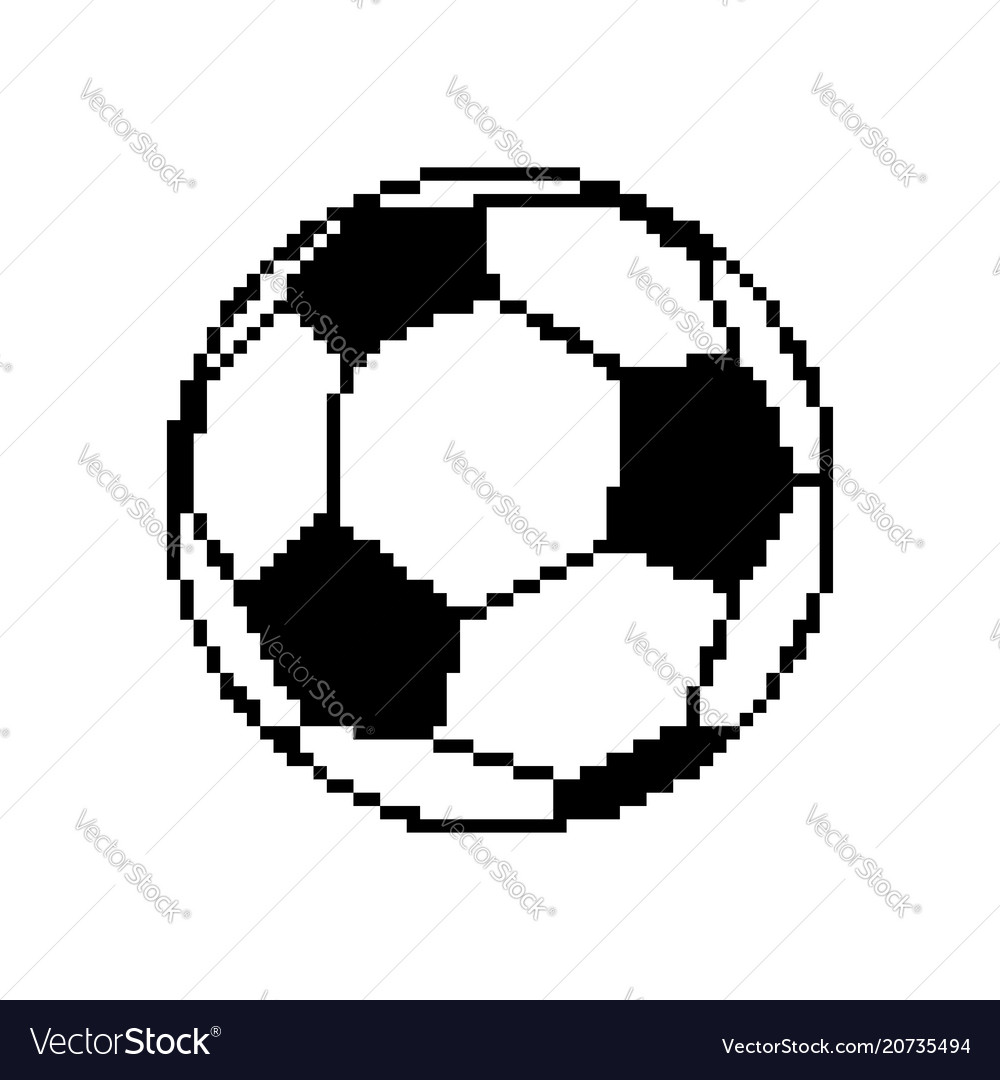 Soccer Ball Pixel Art Football Pixelated Isolated