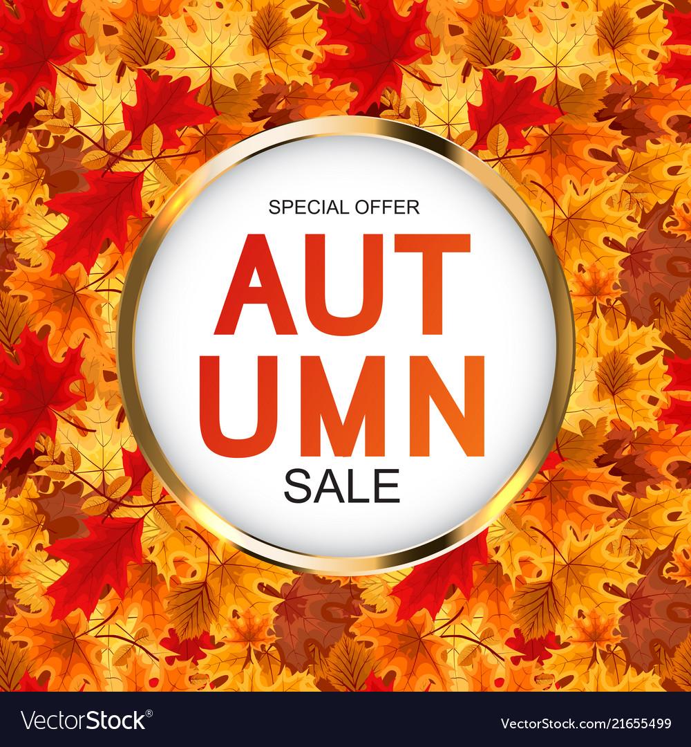 Abstract autumn sale