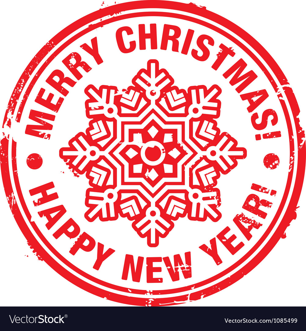 christmas stamp vector image - Christmas Stamp