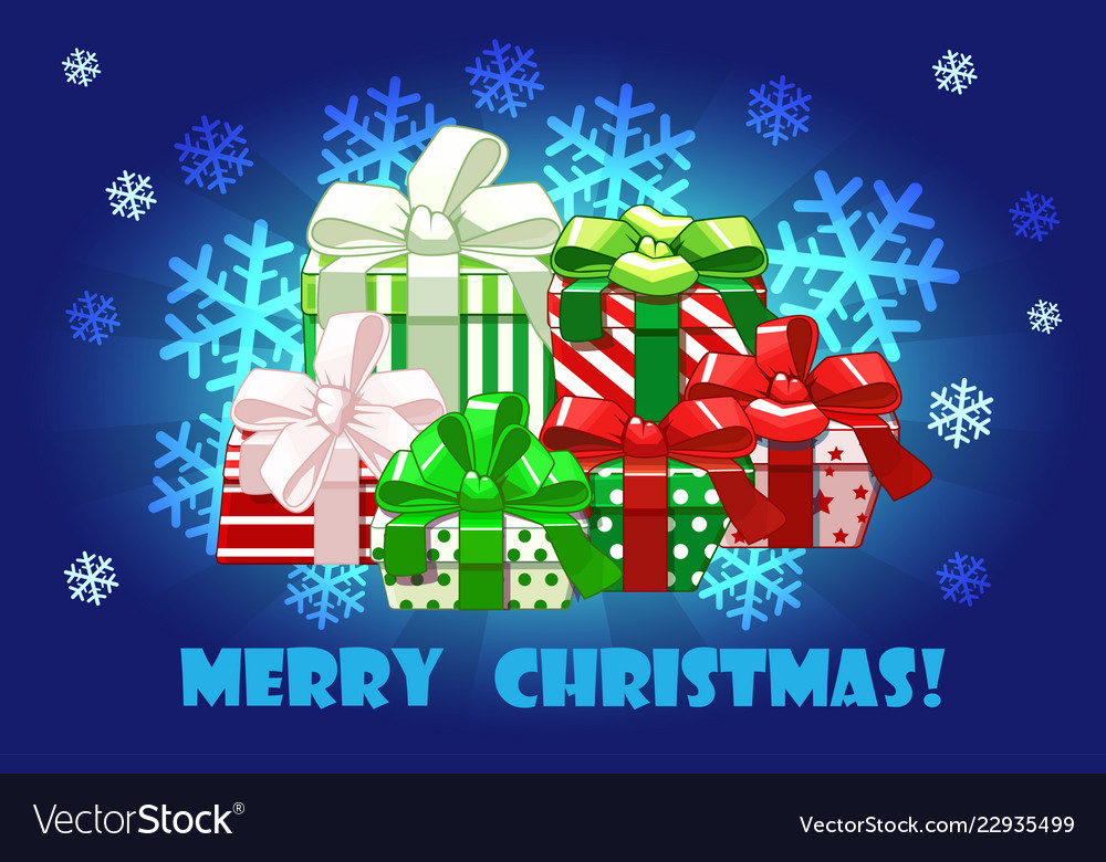 Cute merry christmas different gifts creative