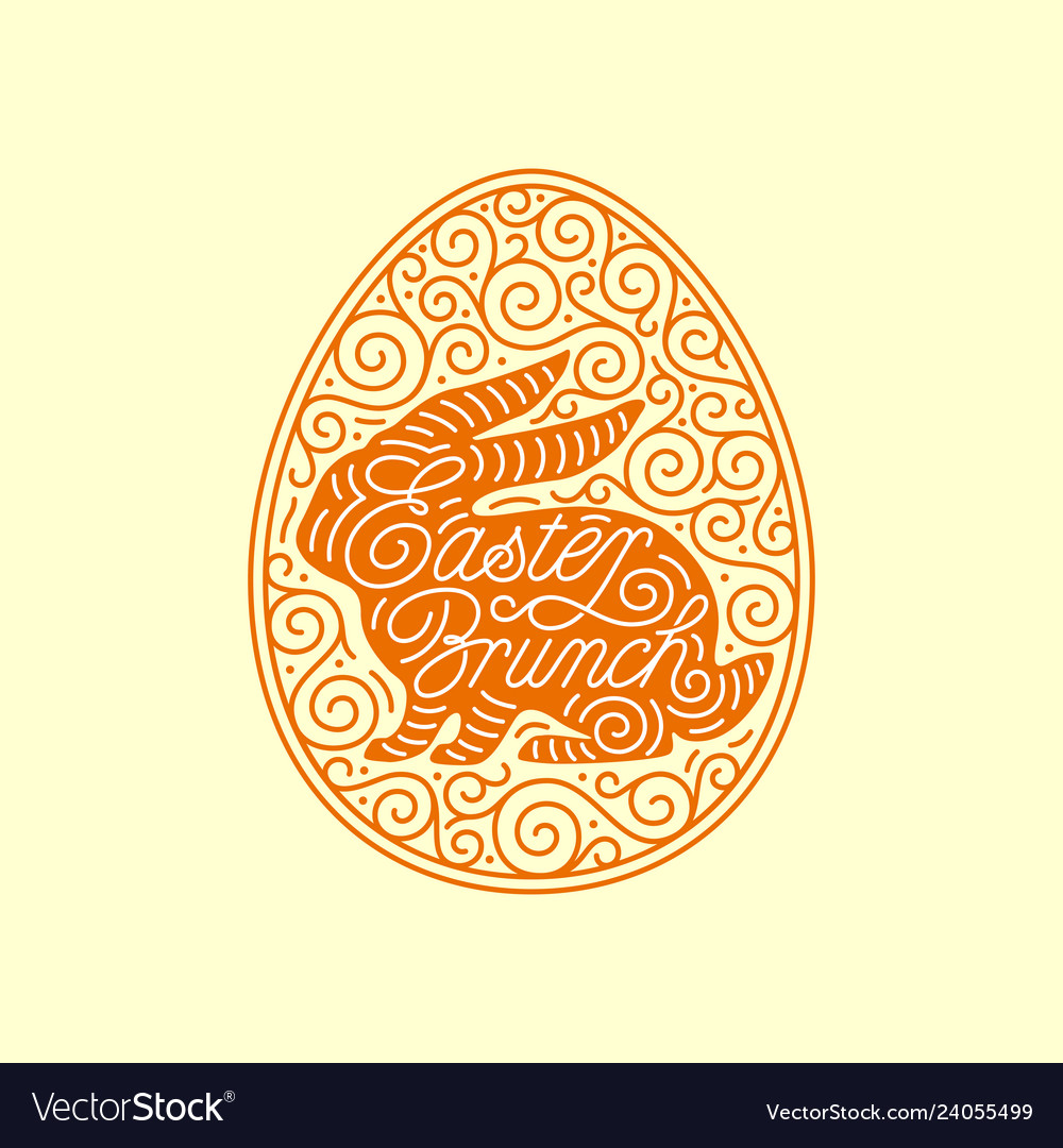 Egg ornate frame