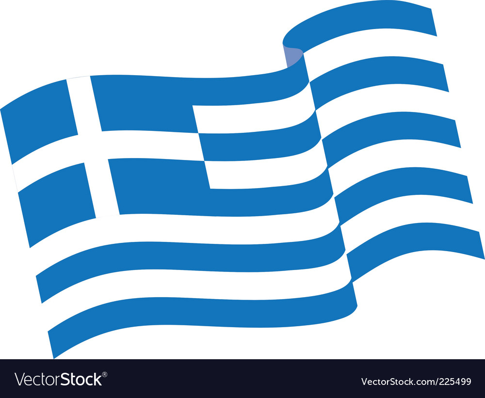 Greek flag Royalty Free Vector Image   VectorStock
