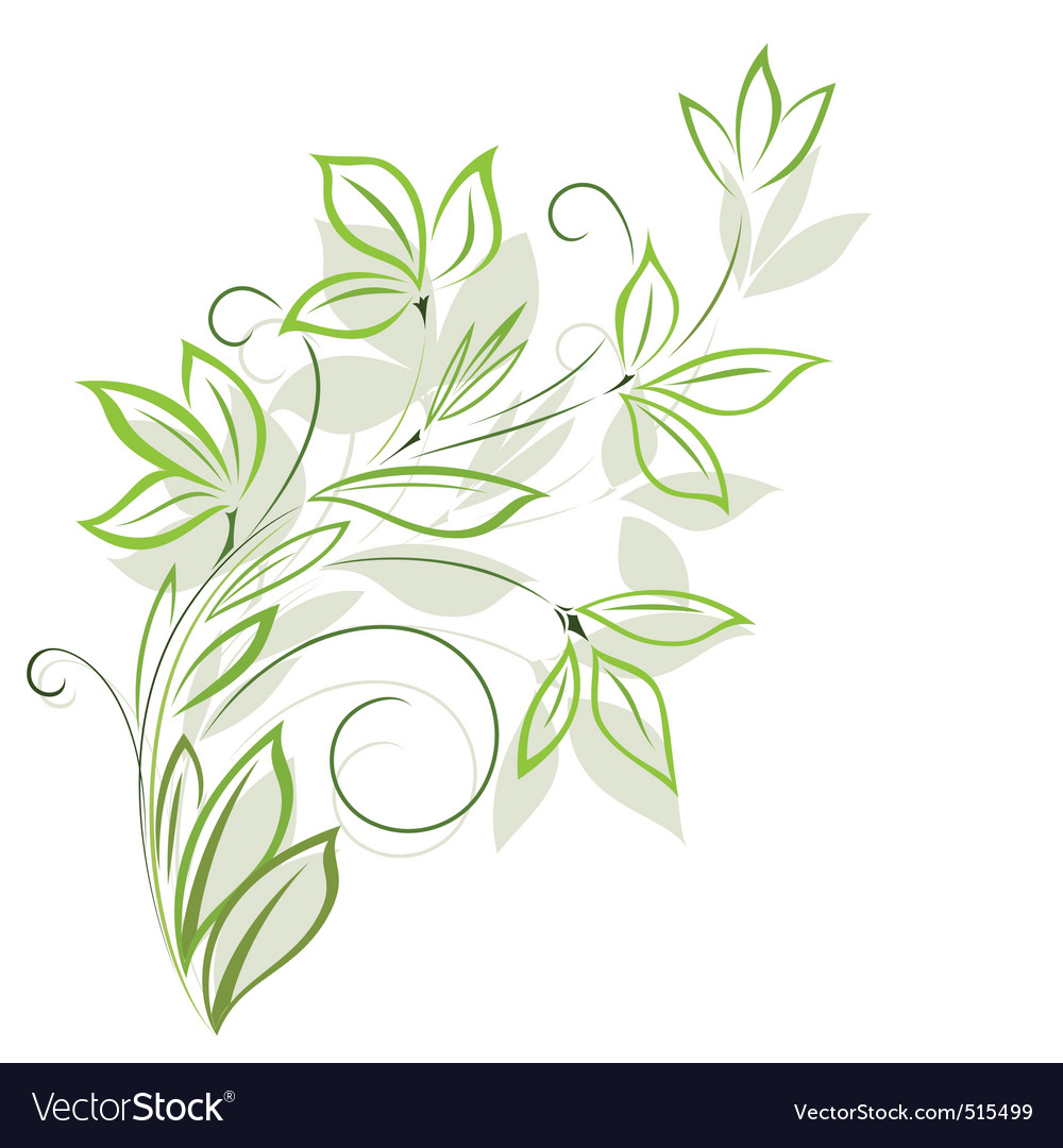 Green Floral Wallpaper Download Free Pattern Vectors