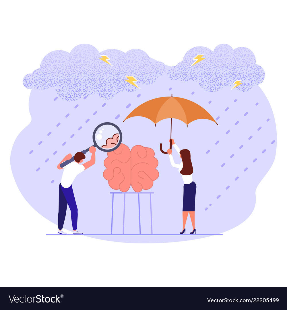 Mental Health Day Banner Royalty Free Vector Image