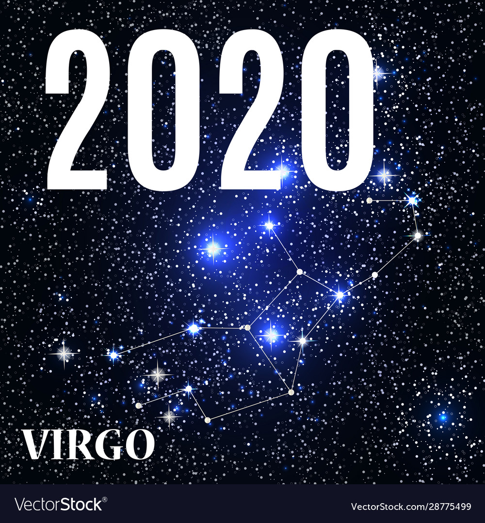 Symbol virgo zodiac sign with new year and