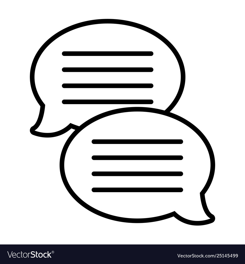 Text bubble chat app black and white