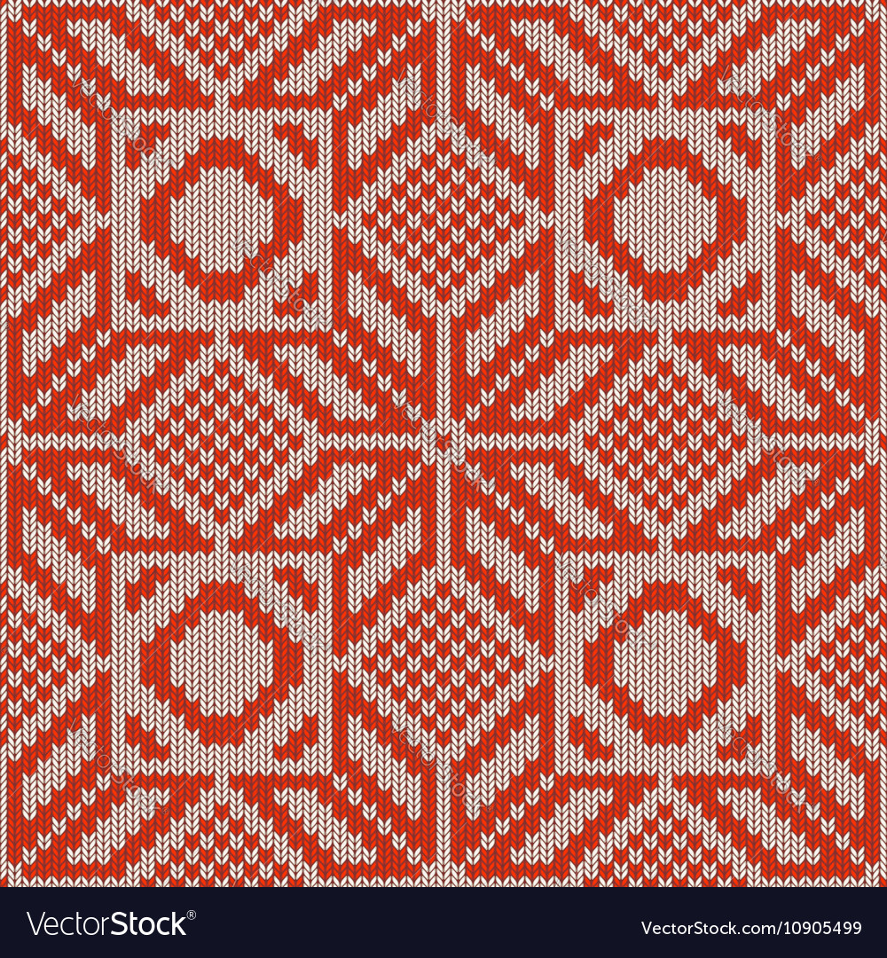 Winter Knitted Pattern 1