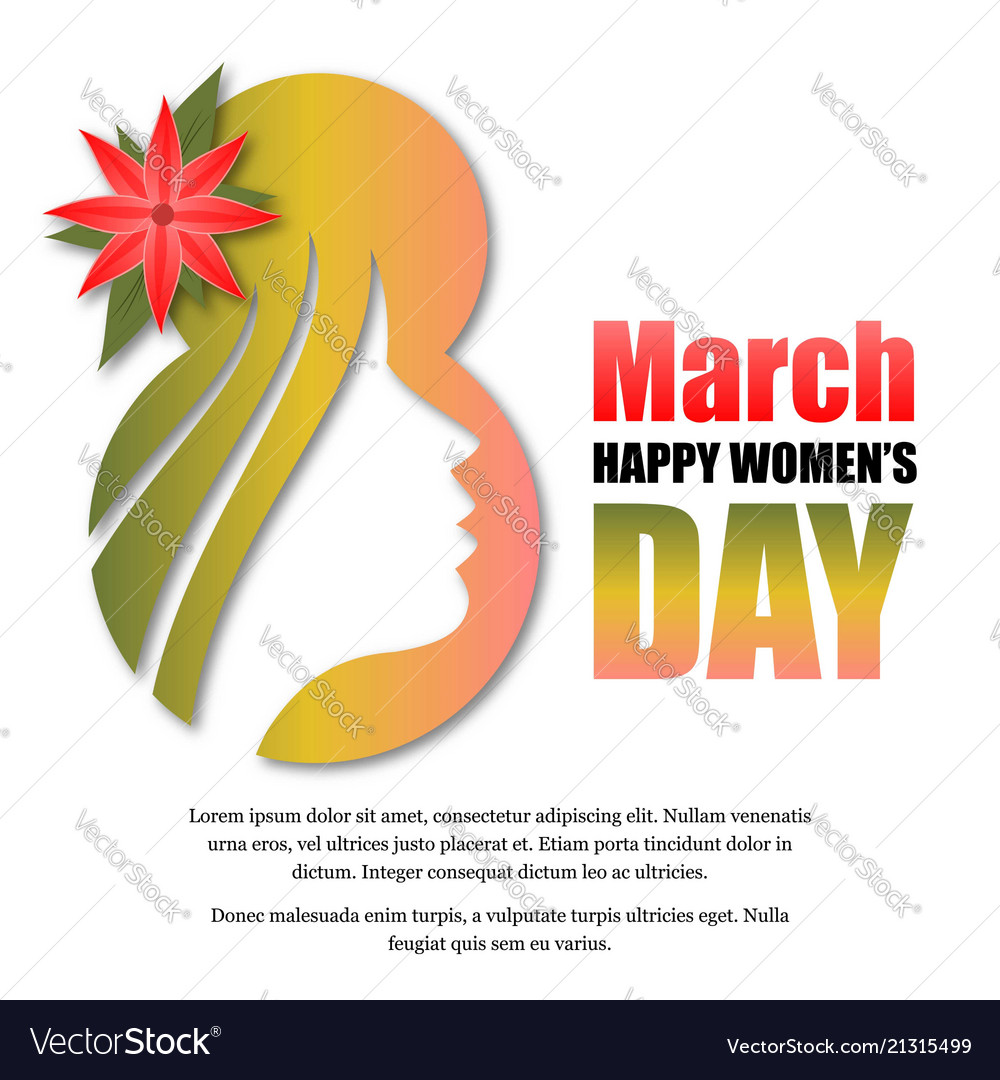 Womens day greetings typography design