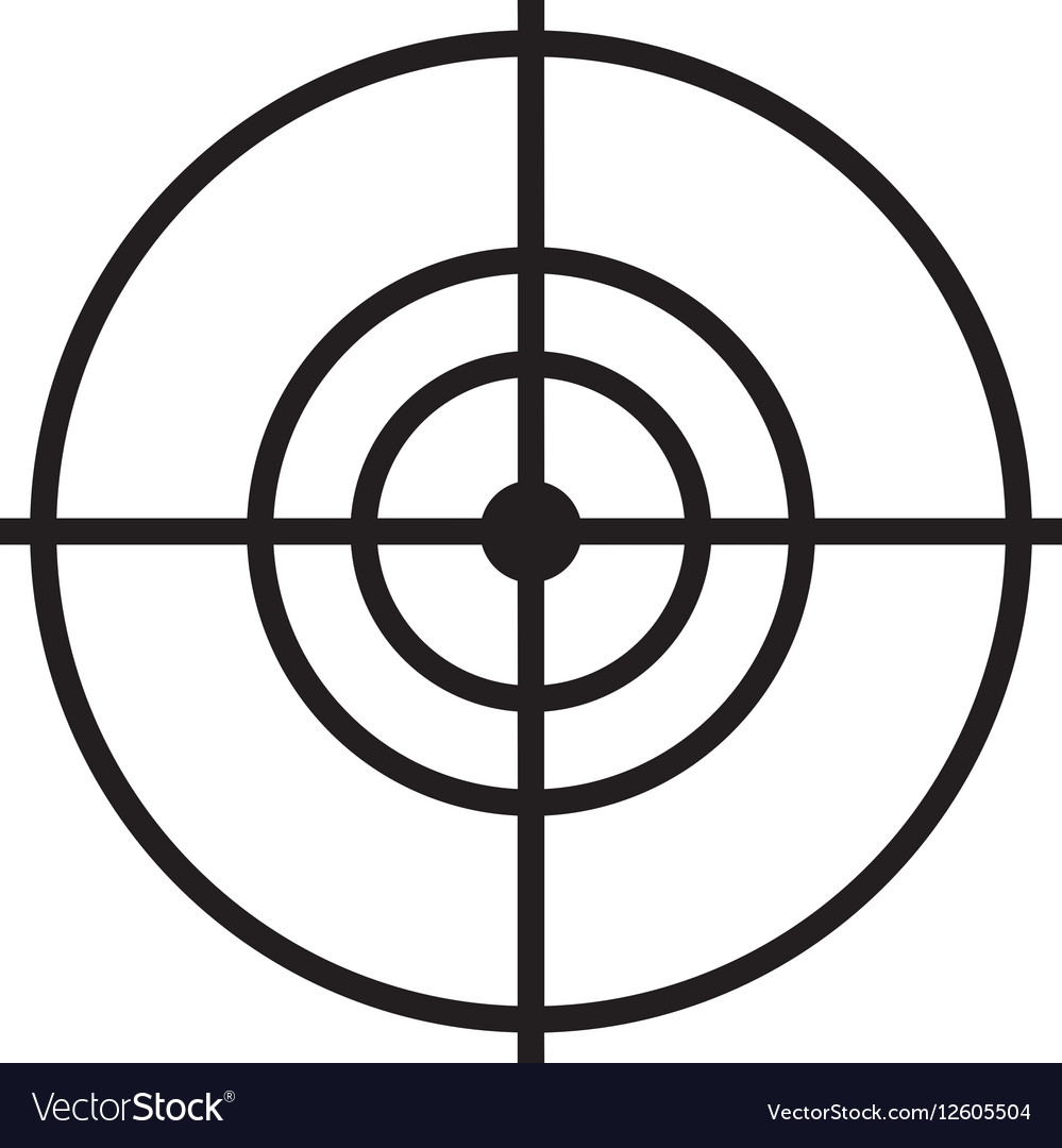 Drone target isolated icon