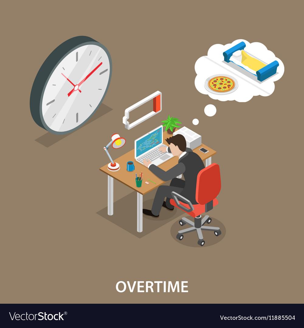 Overtime isometric flat