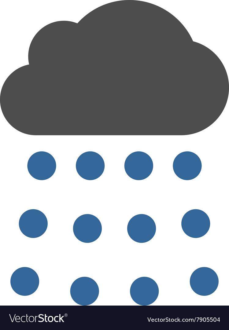 Rain Cloud Flat Symbol