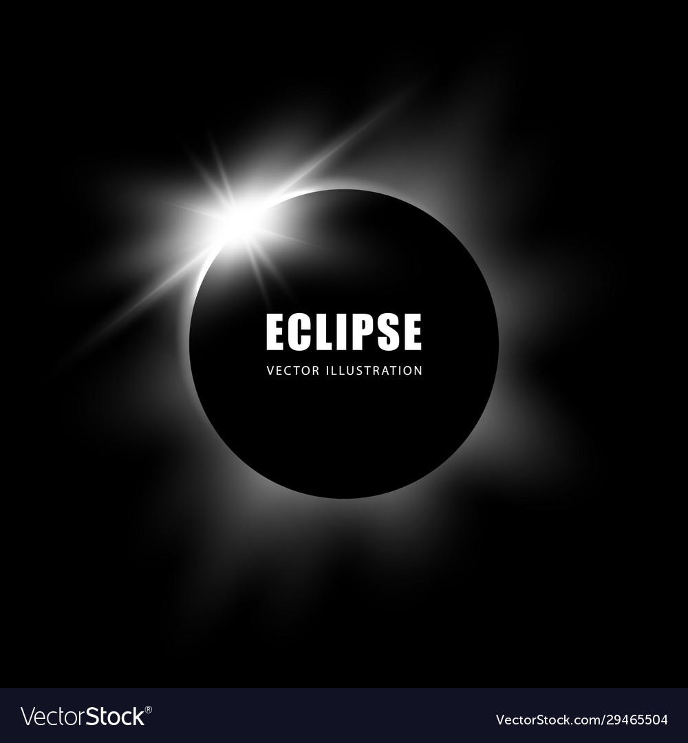 Solar eclipse black and white background