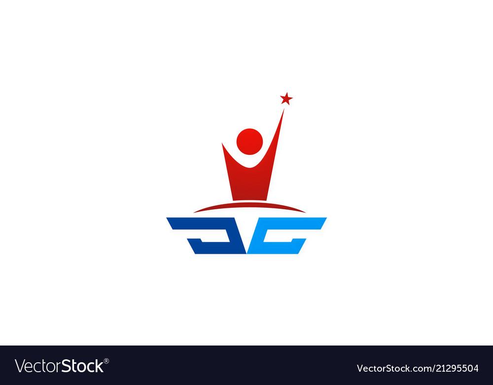 Success people star logo