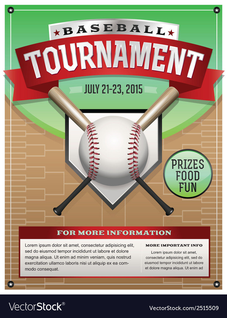 baseball tournament flyer vector images 42