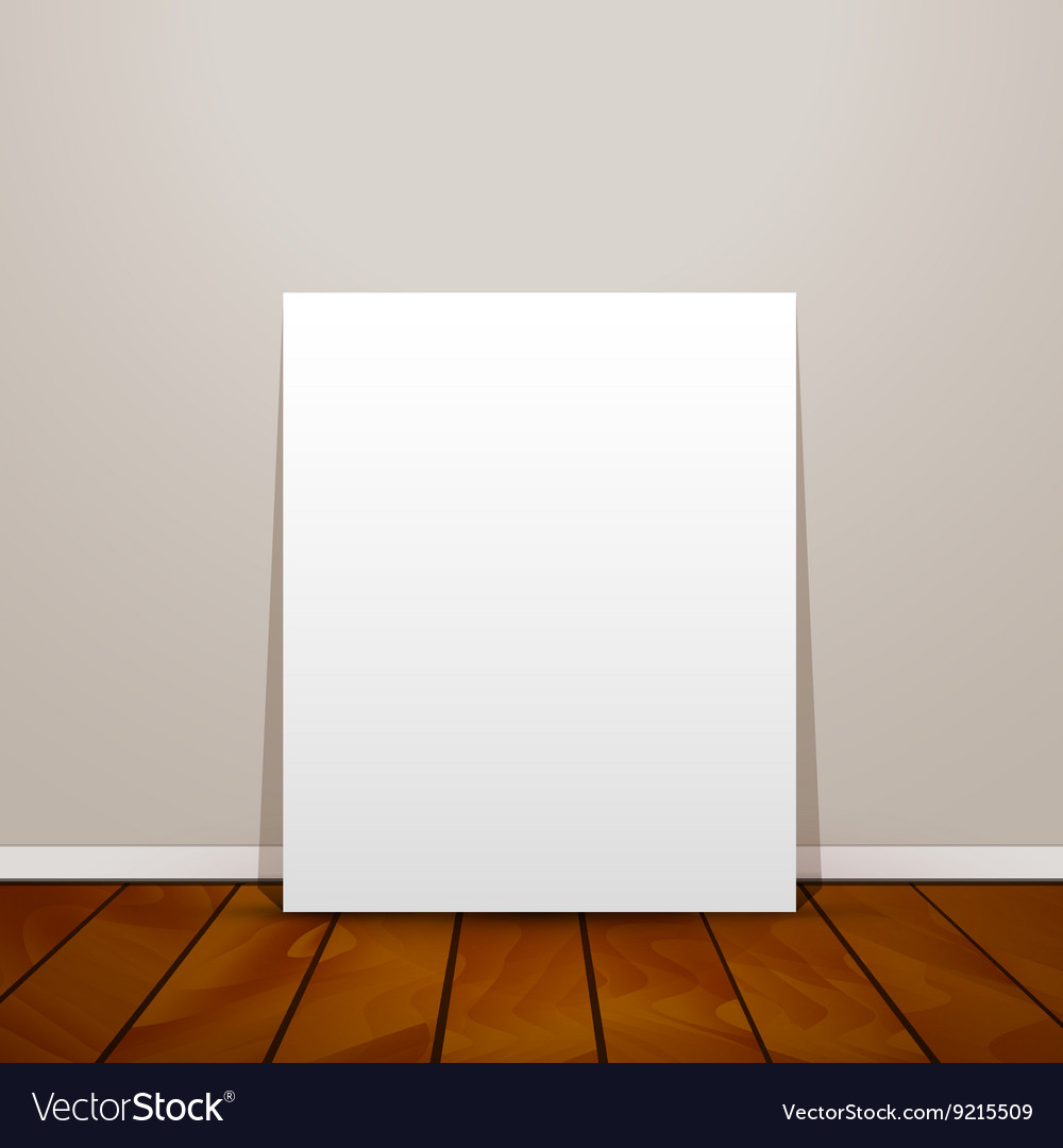 Blank frame paper sheet on wall background and