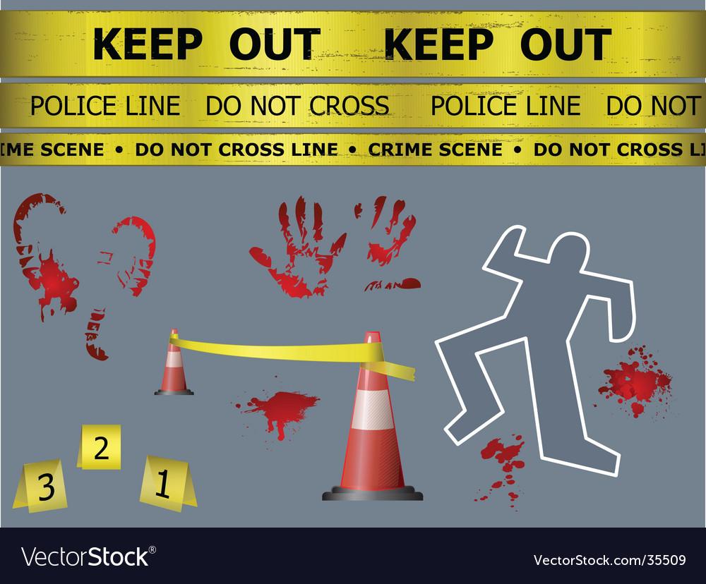 Crime scene objects