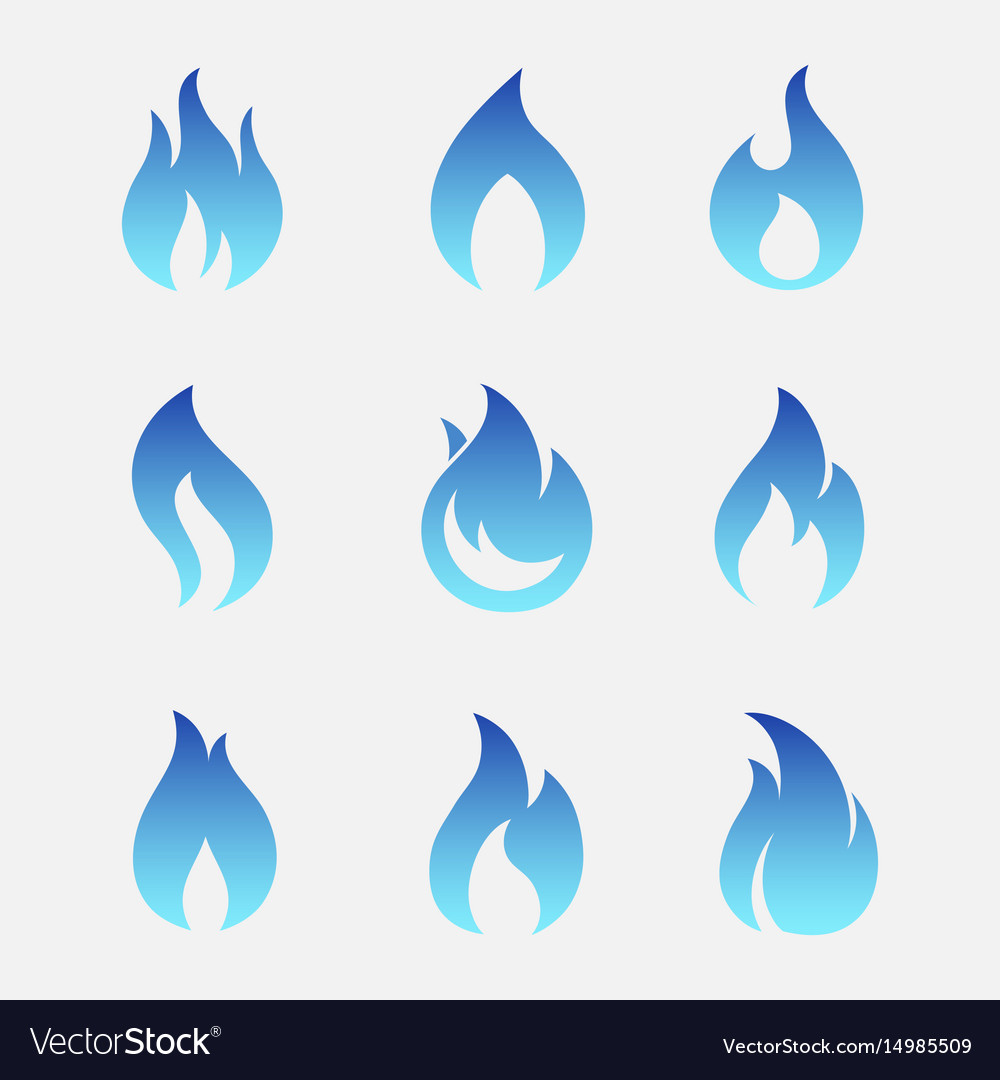 Gas flames icons