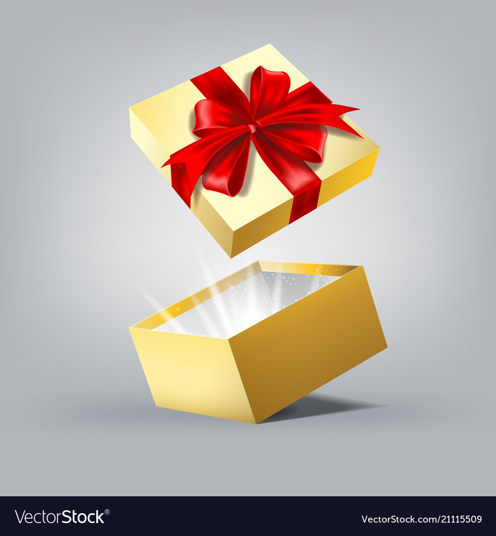 Gift box in motion