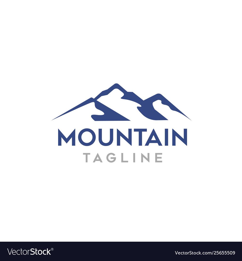 Modern mountain logo template for business